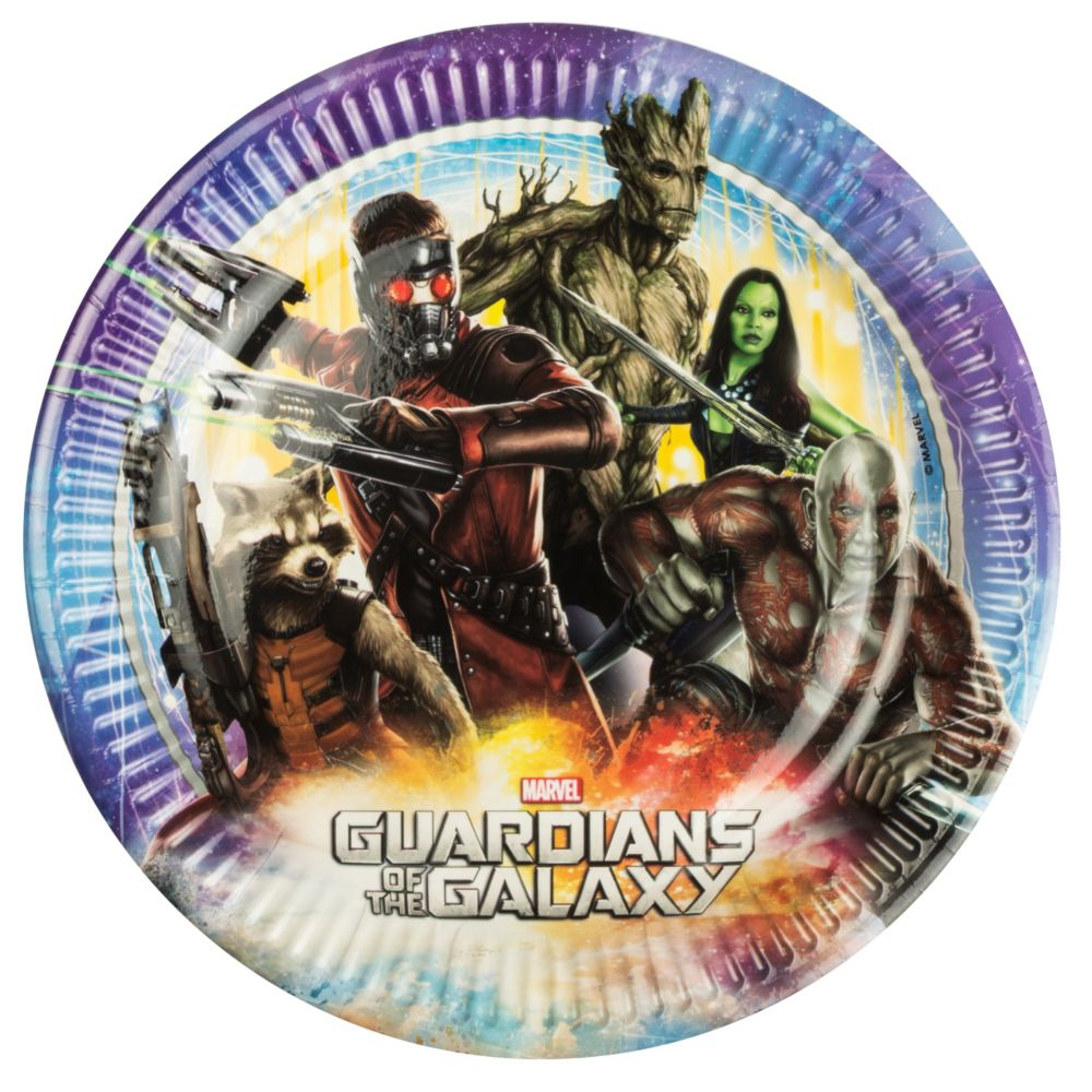 The Guardians of The Galaxy Luncheon Plates (8 Pack) - Party Supplies