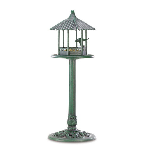 Zingz & Thingz Verdant Pavilion Decorative Tray Birdfeeder by Zingz & Thingz