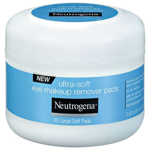 Neutrogena(R) Ultra-Soft Eye Makeup Remover Pads Cleansing 30 Ct