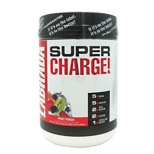 Labrada Nutrition Super Charge 5.0 Fruit Punch - 25 Servings