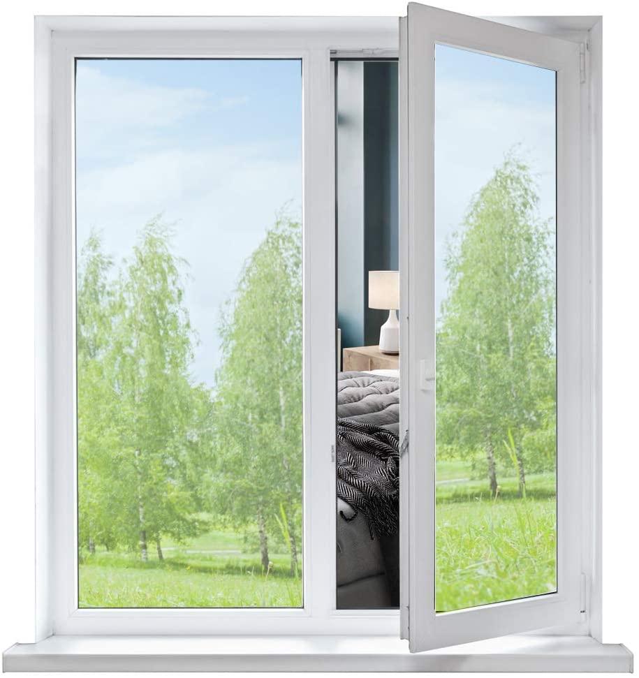 DIY Window Tint One Way Mirror Film UV Heat Reflective Home Office Privacy Black