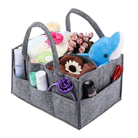 Baby Diaper Caddy, Magicfly Portable Nursery Storage Bin for Home Nursery and Car, Diaper Storage Basket Caddy Organizer