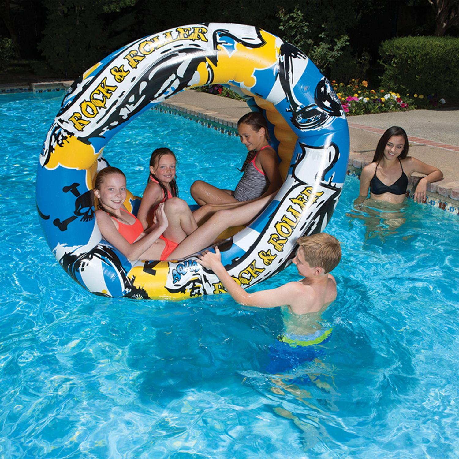 "60"" Aqua Fun Rock and Roller Inflatable Swimming Pool Toy"
