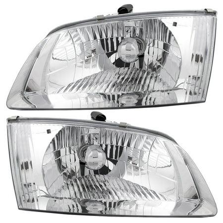 Pair Set Halogen Headlights Headlamps Replacement for 00-02 Mazda 626 GG2A-51-040B - Mazda 626 Headlamps Headlight