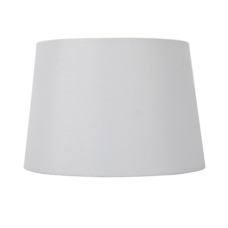 Mainstays White Texture - Medium Mod Drum Lamp Shade- 13 Inch Wide by 9 Inch Height ()