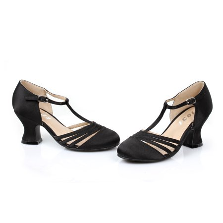 222-LUCILLE, 2'' Heel Satin Dance Shoe