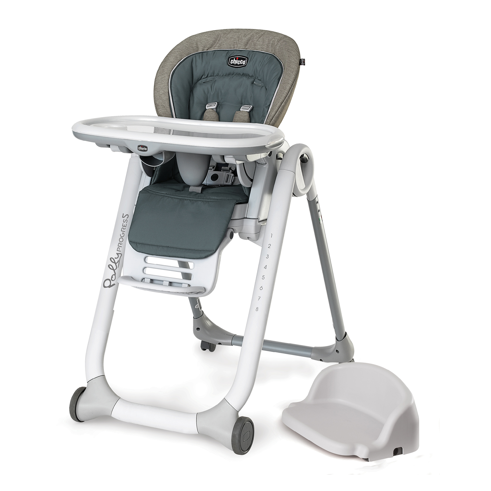 Chicco Polly Progress 5-in-1 High Chair, Naturale by Chicco