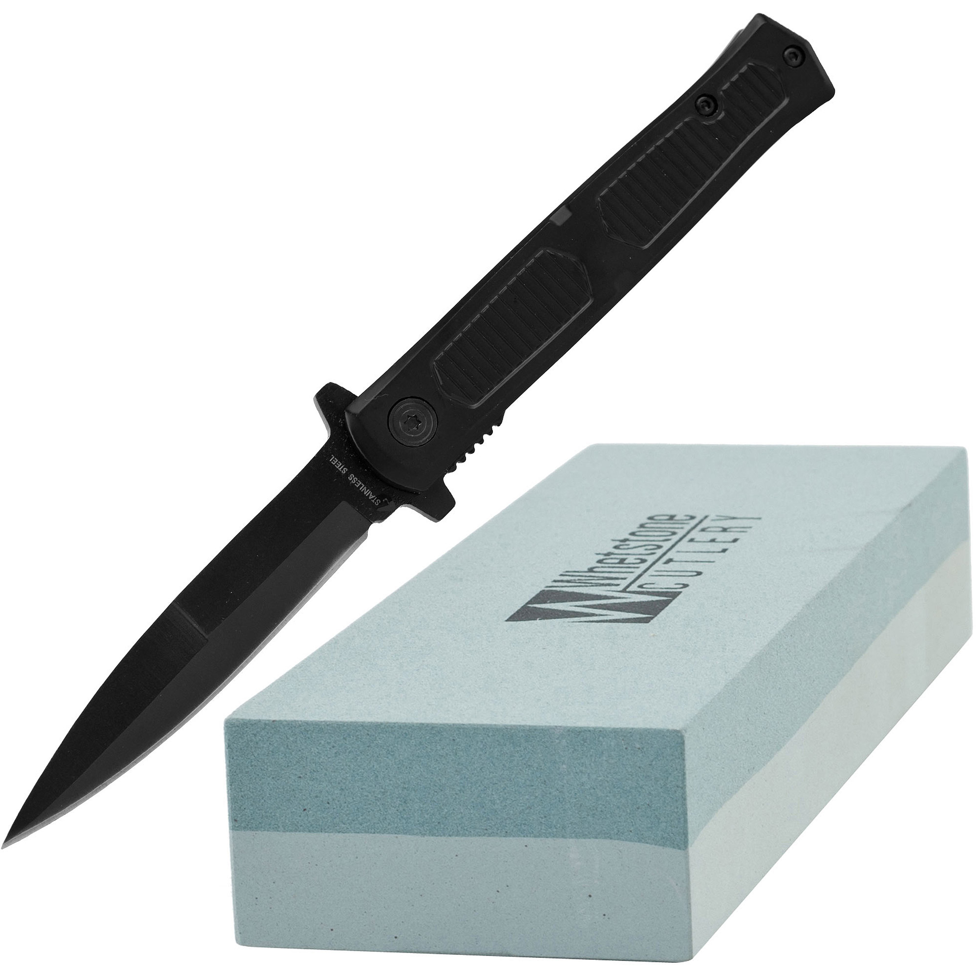 Whetstone Slimline Pocket Knife and 2-Sided Sharpening Stone