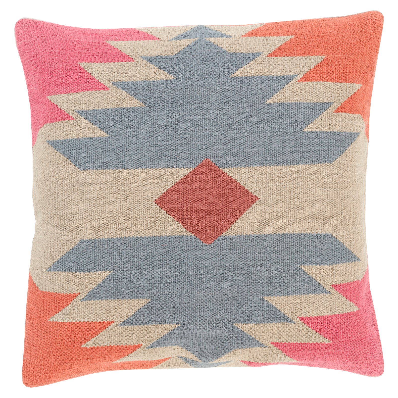 Surya Cotton Kilim Decorative Throw Pillow