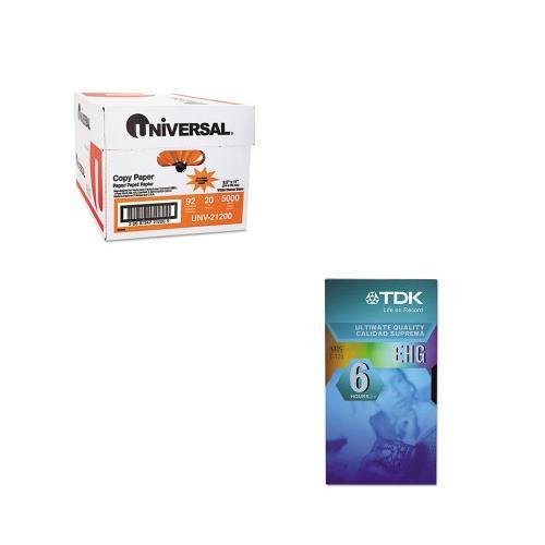 Shoplet Best Value Kit - TDK High Grade VHS Videotape Cassette (TDK30120) and...