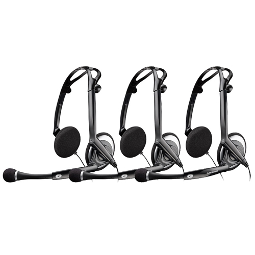 Plantronics Audio 400 DSP Stereo Corded Headset (3 Pack)