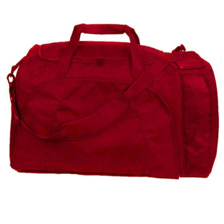 Champion Sports Football Equipment Bag - Red (Football Gear Bags)