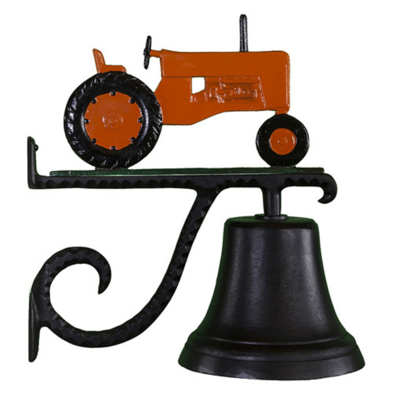 Cast Bell with Orange Tractor Ornament