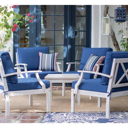 Belham Living Brighton Beach Wood 5 Piece Deep Seating Conversation Set ()