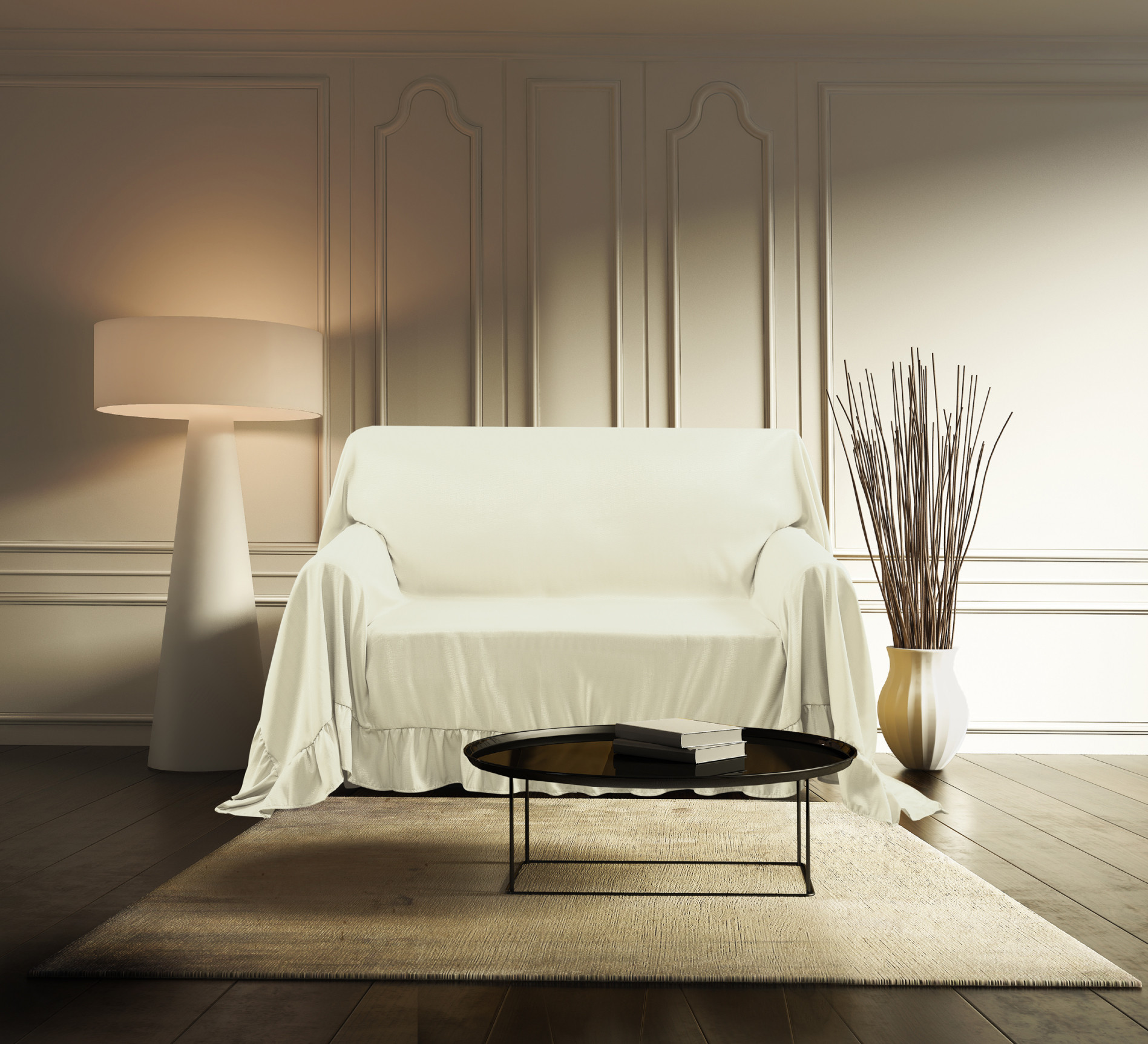 Venice Sofa Protector Throw Cover 70 x 140 Taupe