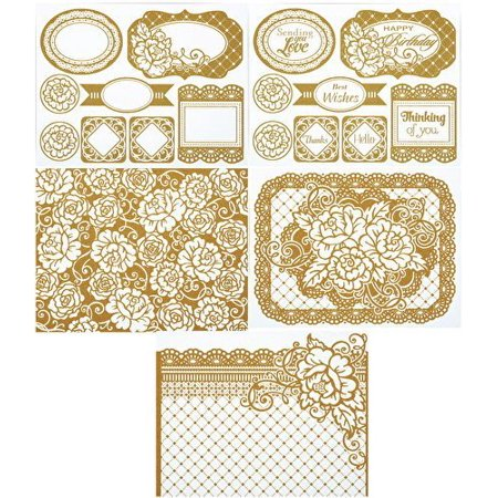 - Color Me Gold Roses Card Toppers By Hot Off The Press