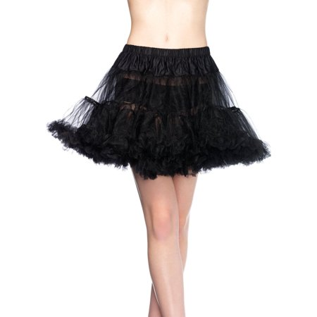 Black Plus Size Petticoat (Leg Avenue Plus Size Petticoat Adult Halloween)