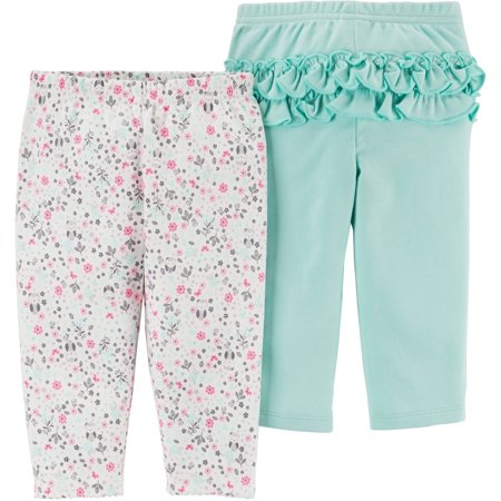 834f0b9cc Child of Mine by Carter's - Newborn Baby Girl 2 Pack Pant - Walmart.com