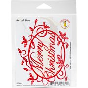 Cheery Lynn Designs Die-Merry Christmas Holly Sentiment