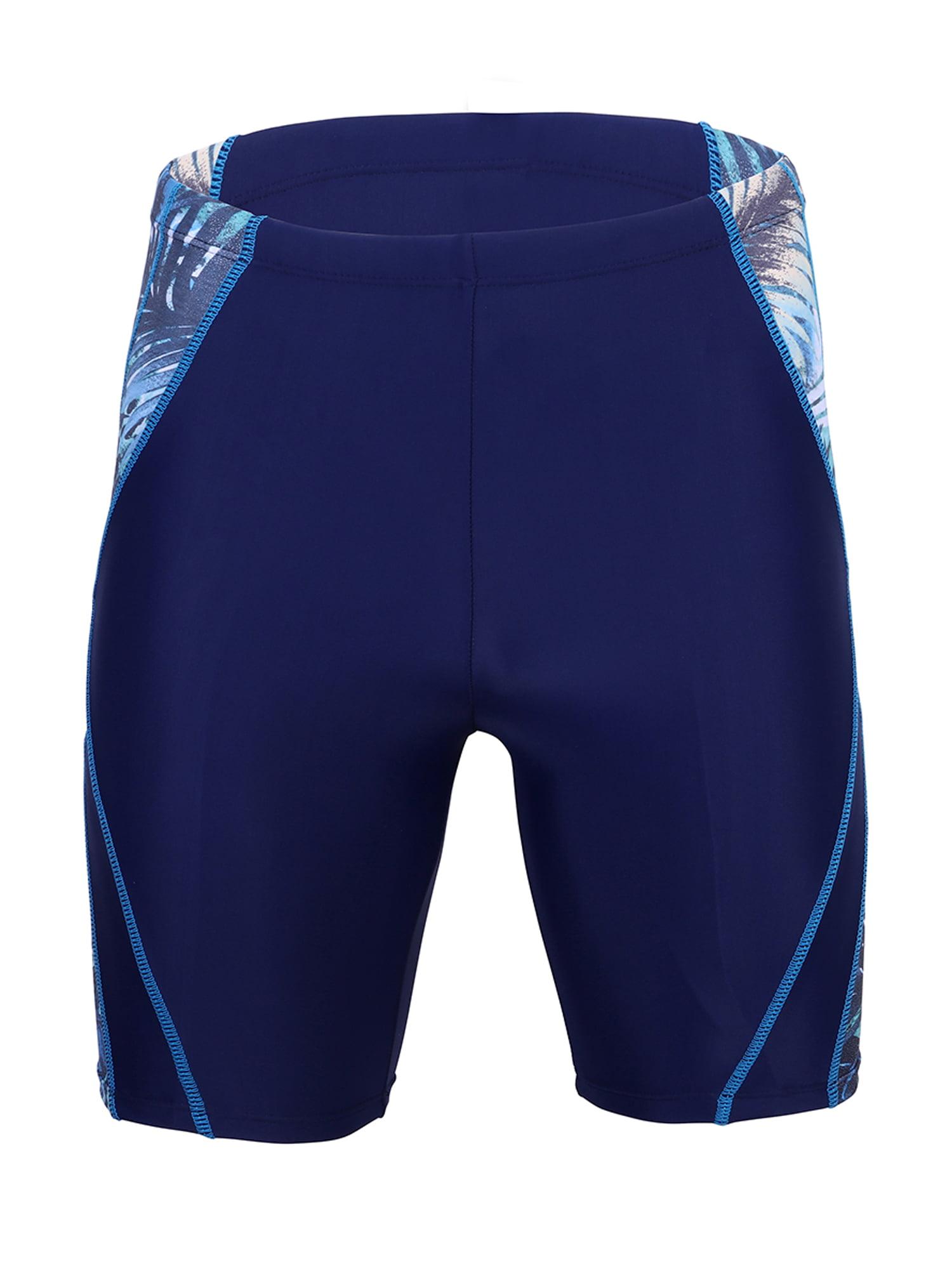 Aimik Mens Swimsuit-Swim Boxer Square Leg Swimsuit Men Swimwear Short Jammer Swim Trunks Boardshorts for Swim Gym Running