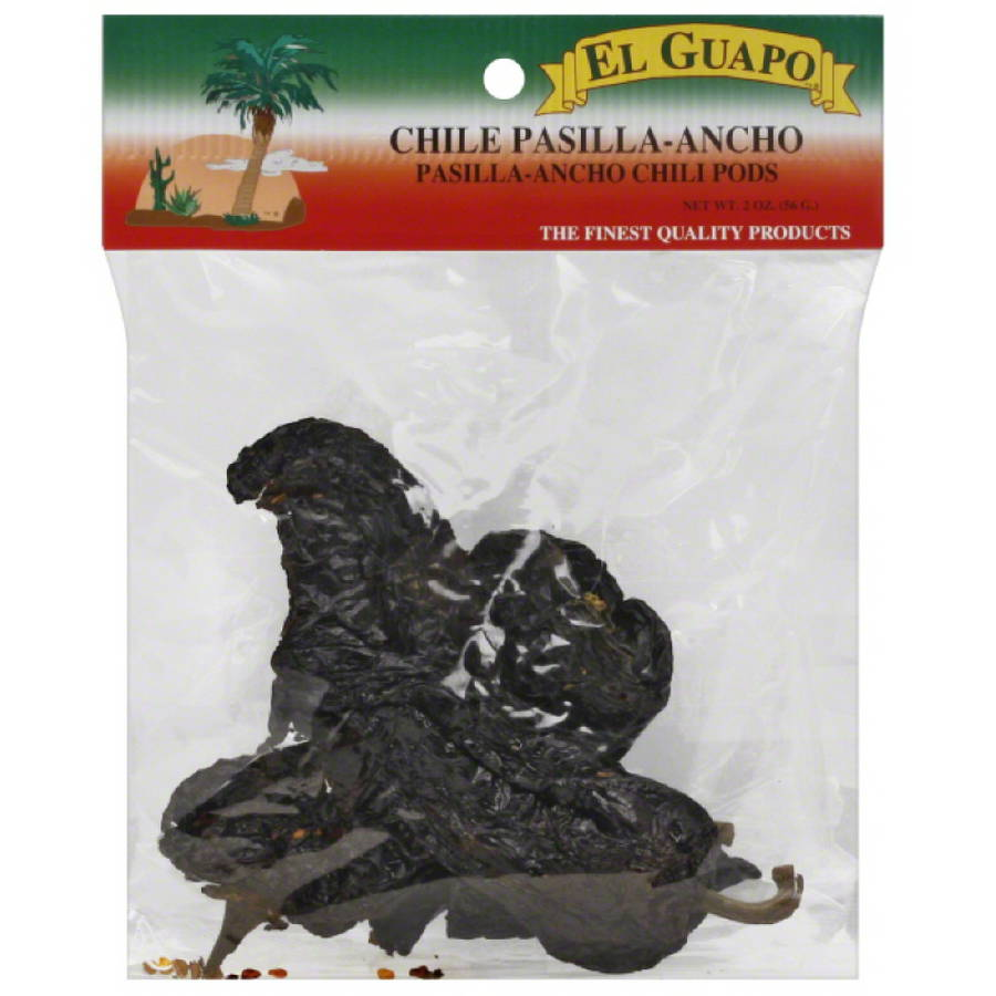 El Guapo Ancho Chili Pods, 2 oz, (Pack of 12)