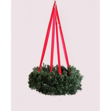 queens of christmas hanging basket wreath - Christmas Hanging Baskets