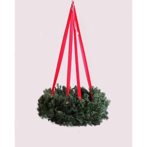 Queens of Christmas Hanging Basket Wreath