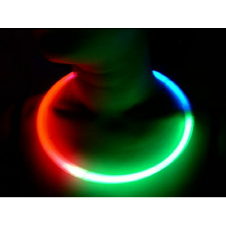 Glow Sticks Bulk Wholesale Necklaces, 100 22 Glow Stick Necklaces Tri-color (Red-Green-Blue) +100 FREE Glow Bracelets BONUS, Brand (Glow Sticks Cheap Bulk)