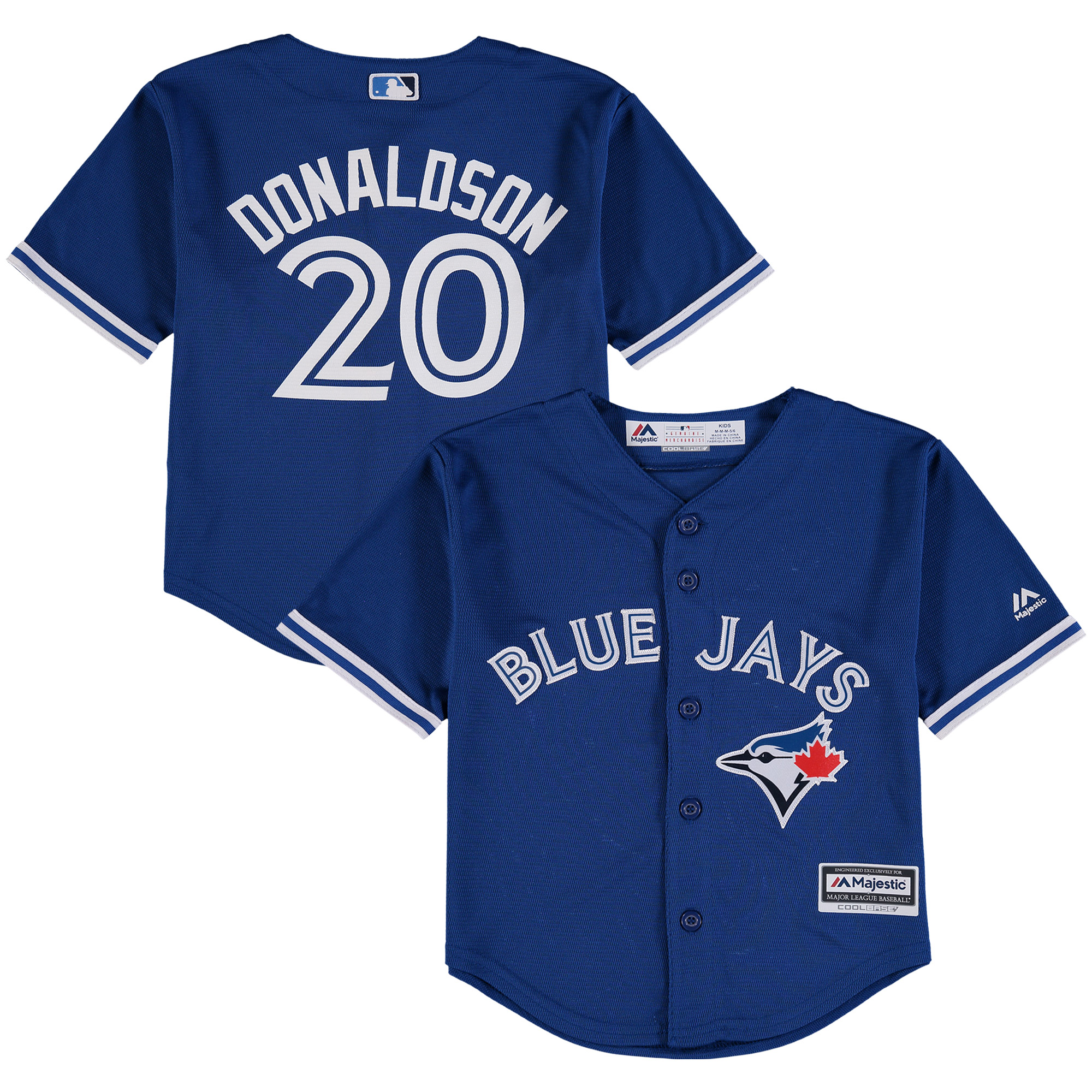 Josh Donaldson Toronto Blue Jays Majestic Preschool Alternate Official Cool Base Player Jersey - Royal