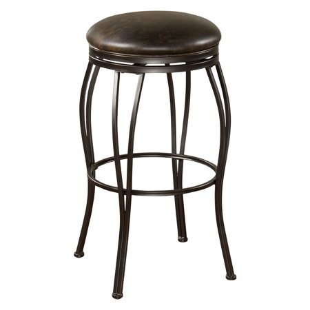 AHB Romano Swivel Counter Stool - Coco with Tobacco Bonded Leather