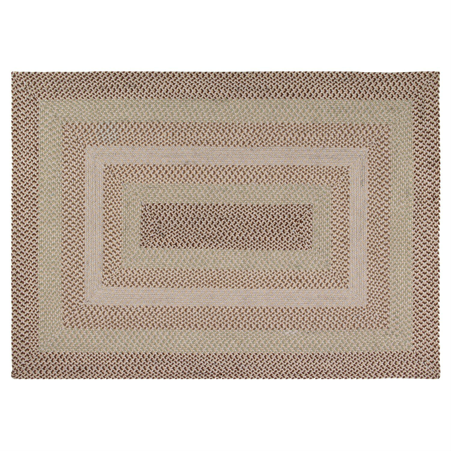 "Woodbridge 20"" x 30"" Braided Rug - Green"