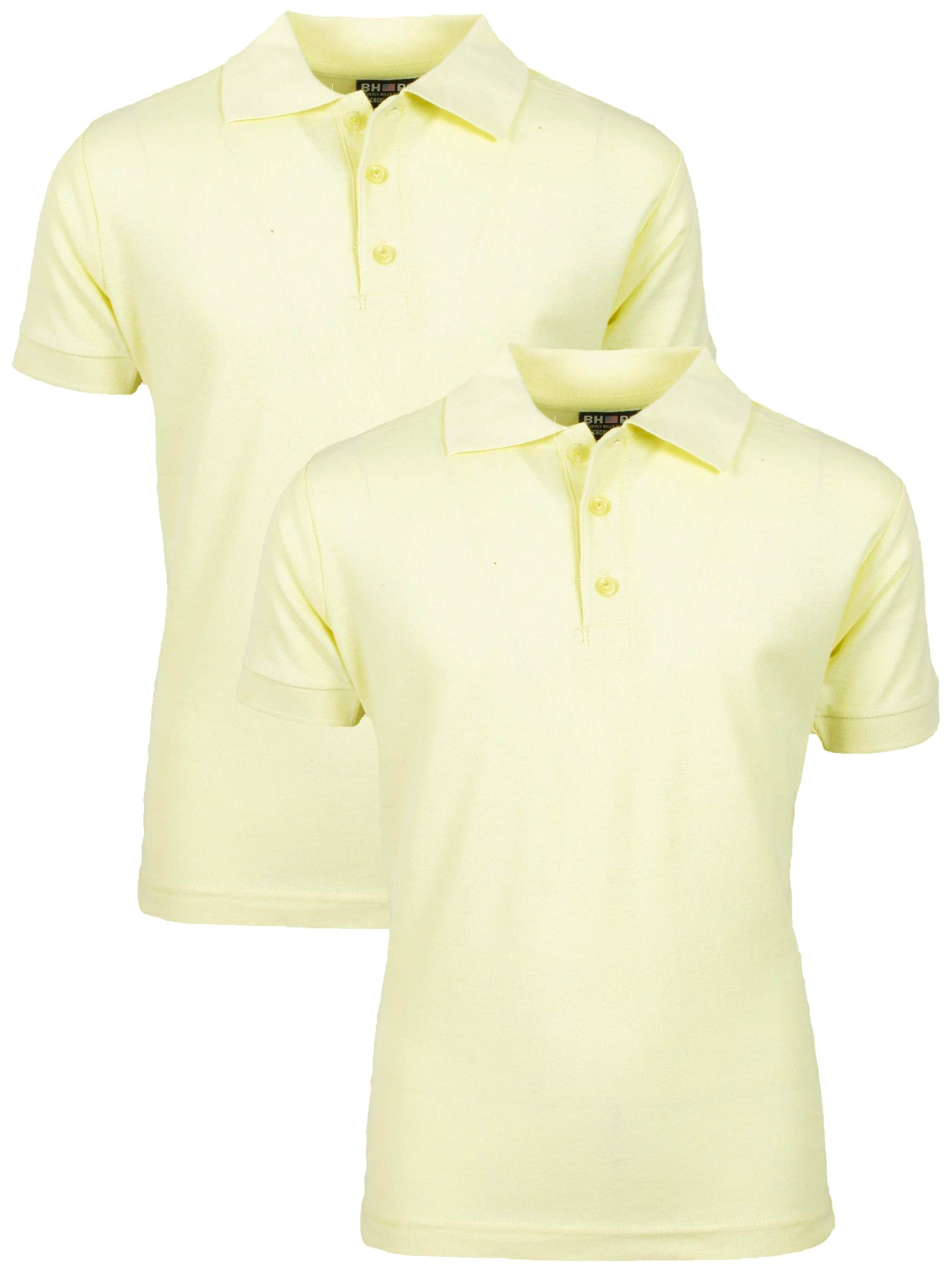 Boy's Uniform 2 Pack Short Sleeve Cotton Jersey Polo