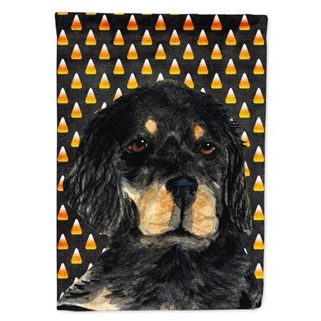 Gordon Setter Candy Corn Halloween Portrait Garden Flag - Nicholas Gordon Halloween