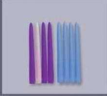 "Candle-Advent Tapers 12"" x 7/8""-Blue (Pack Of 12)"