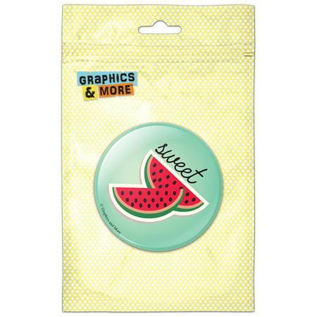 Sweet Watermelon Slices Refrigerator Button Magnet ()