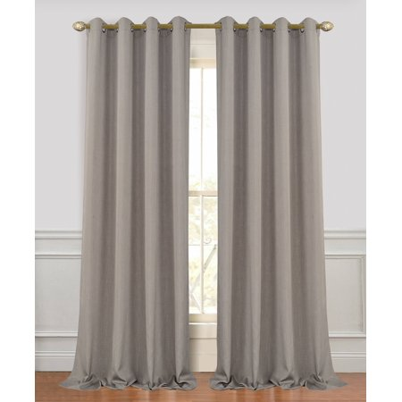 Dainty Home Madison Extra Long and Wide Linen Look Window Curtain Panel Pair ()