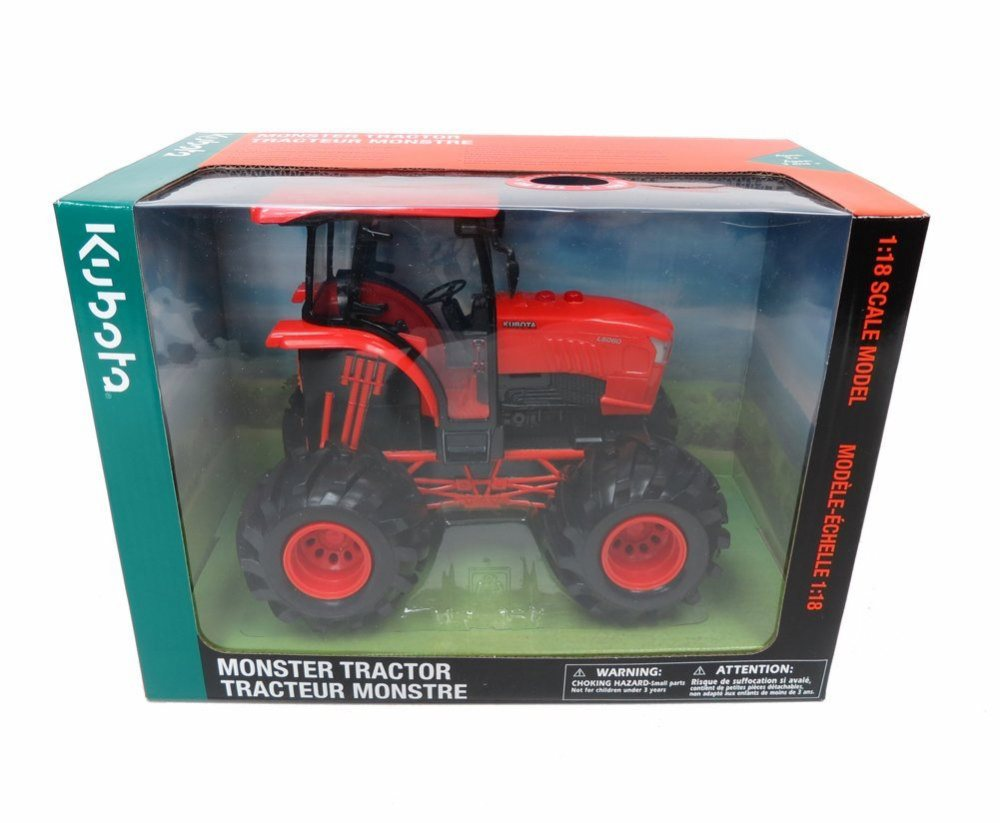 Kubota Farm Tractor, Orange New Ray SS-33153 1 18 Scale Model Toy Vehicle by New Ray