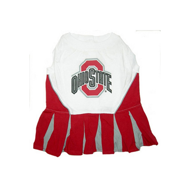 Pets First Ohio State Buckeyes Team Pet Dog Cheer Leading Sports Outfit Extra Small