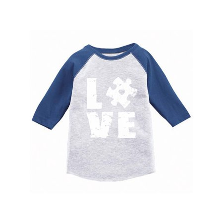 Awkward Styles Autism Awareness Puzzle Raglan Shirts Autism Awareness Baseball Jersey Shirts for Kids Autism 3/4 Sleeve Tshirt for Boys Autism Puzzle Jersey Shirt for Girls Autism Puzzle