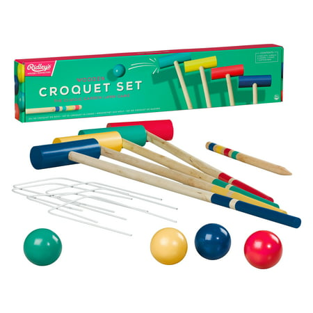 House of Novelties Wooden Outdoor Croquet Set