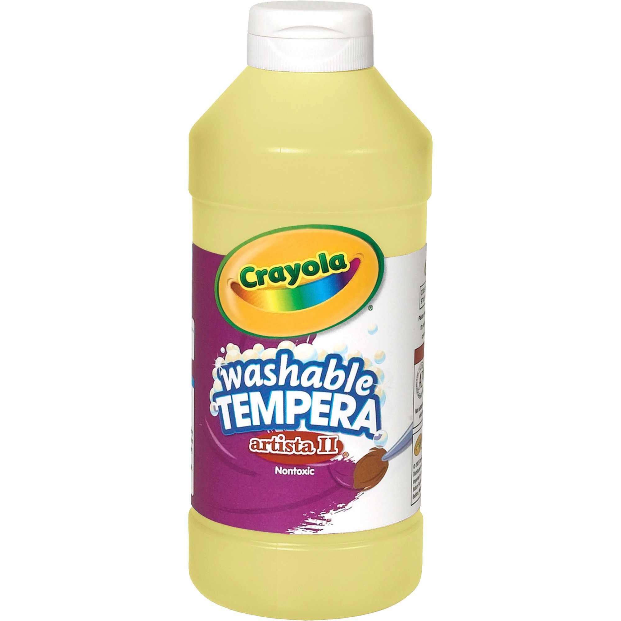 Crayola Artista Ii Non-Toxic Washable Tempera Paint, 1 Pint Squeeze Bottle, Blue