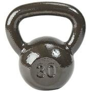 Everyday Essentials Cast Iron Kettlebell, Single, 30 lbs