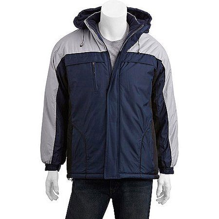 Climate Concepts Men's Fleece Lined Jacket with Removable Hood ...