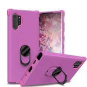 Samsung Galaxy Note 10 Plus/Note 10+ (5g) Case, Ring Kickstand Matte Case with Soft Bumper Edges - Purple