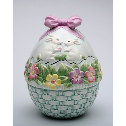 Cosmos Gifts Egg Shaped Cookie Jar
