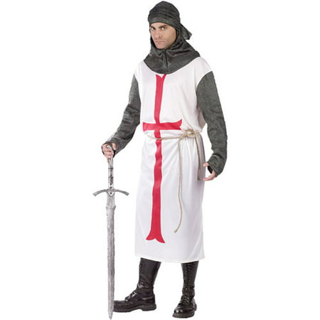 Templar Knight Adult Halloween Costume, Size: Up to 200 lbs - Halloween 200
