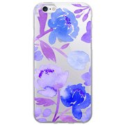 OTM Artist Prints Clear Phone Case for Apple iPhone 6, Peonies Gone Cool