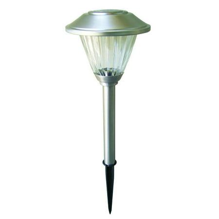 Hampton Four Light (Stainless Solar LED Pathway Light Set (8-Pack), Stainless finish By Hampton)