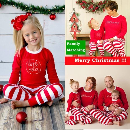 Kids Christmas Pajamas.Family Matching Christmas Pajamas Set Women Daddy Kids Xmas Sleepwear Nightwear