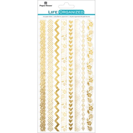 - Paper House Life Organized Rice Paper Border Stickers  -Cherished